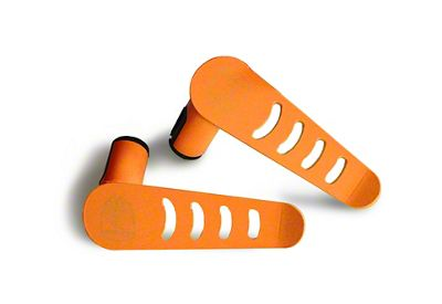 Steinjager Stationary Foot Pegs - Fluorescent Orange (07-18 Jeep Wrangler JK)
