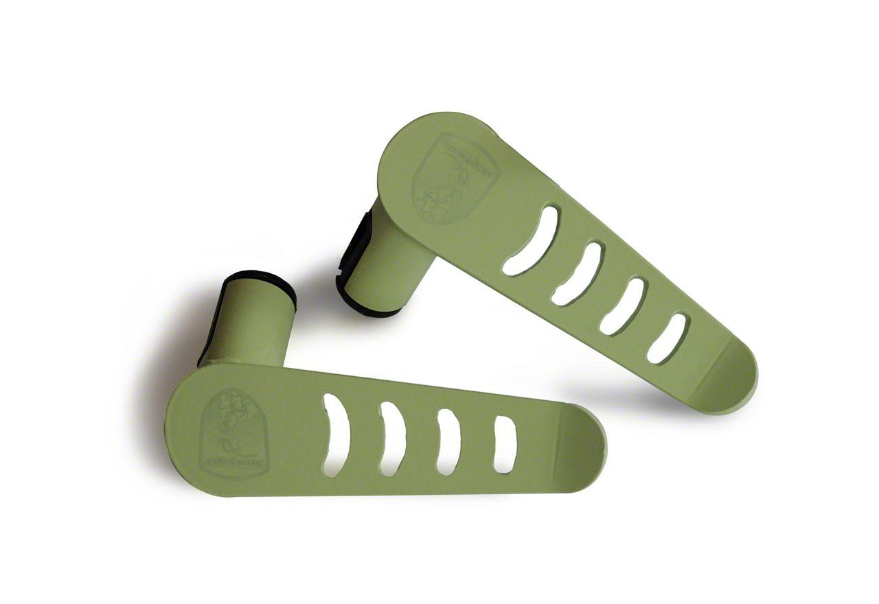 Steinjager Stationary Foot Pegs - Locas Green (07-18 Jeep Wrangler JK)