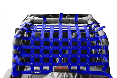 Steinjager Teddy Top Cargo Net Kit - Blue (87-95 Jeep Wrangler YJ)