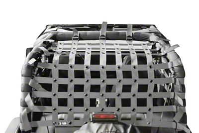 Steinjager Teddy Top Cargo Net Kit - Gray (87-95 Jeep Wrangler YJ)