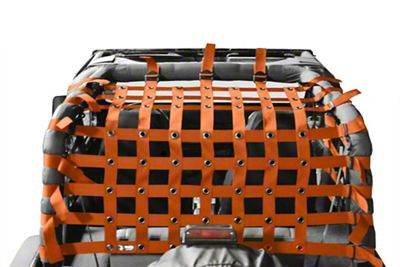 Steinjager Teddy Top Cargo Net Kit - Orange (87-95 Jeep Wrangler YJ)