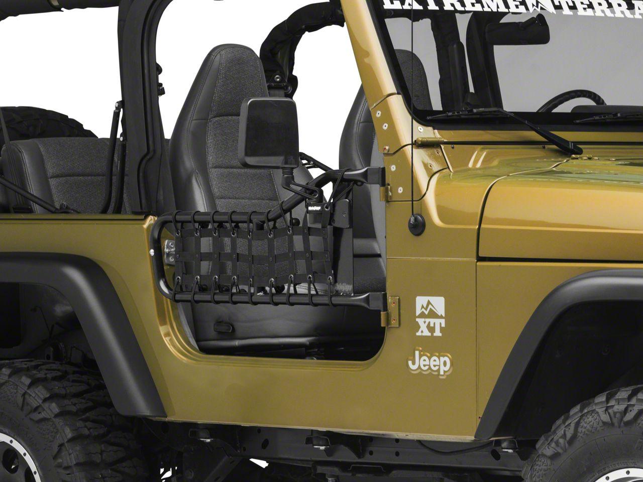 Steinjager Tube Door Cargo Net Covers - Black (97-06 Jeep Wrangler TJ)