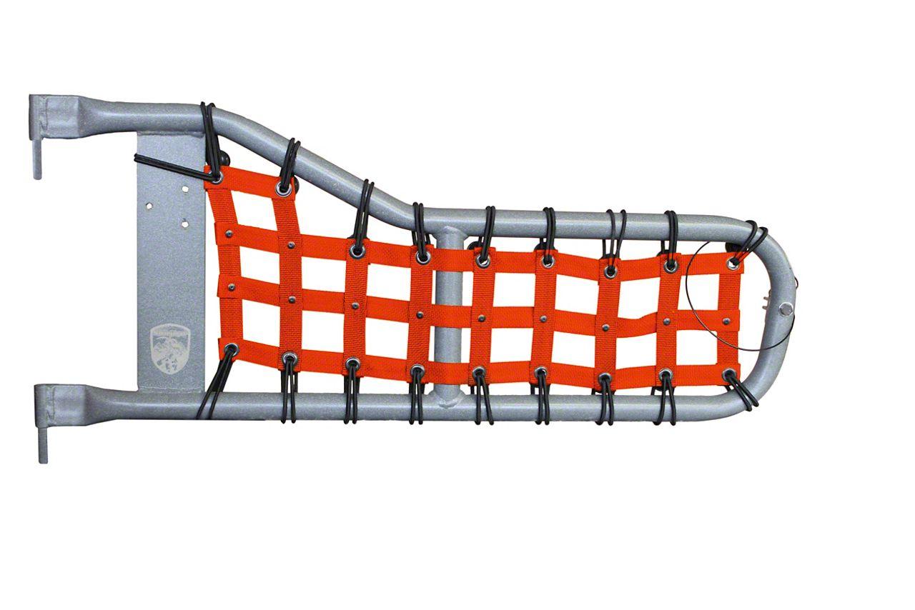 Steinjager Tube Door Cargo Net Covers - Orange (97-06 Jeep Wrangler TJ)