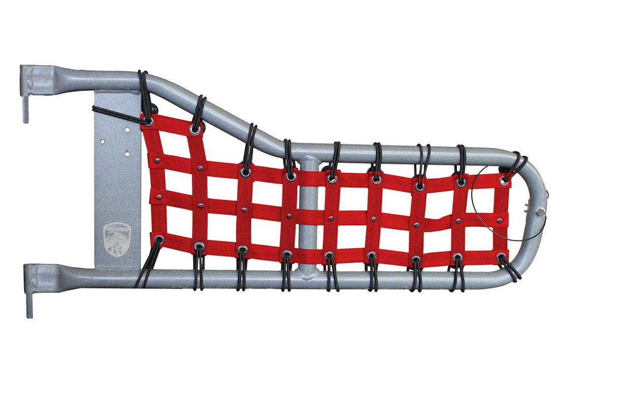 Steinjager Tube Door Cargo Net Covers - Red (97-06 Jeep Wrangler TJ)