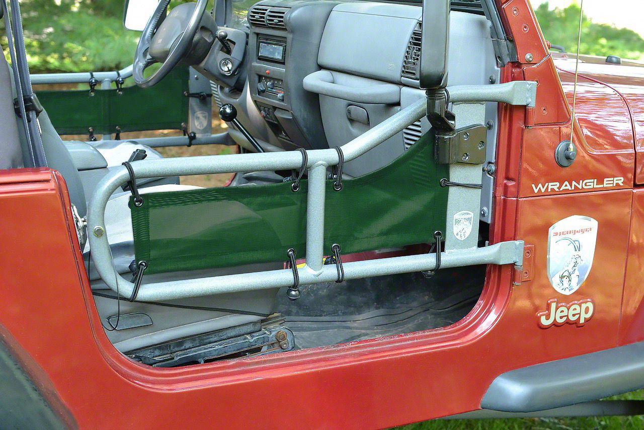 Steinjager Tube Door Covers - Dark Green (97-06 Jeep Wrangler TJ)