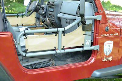 Steinjager Tube Door Covers - Gray Sand (87-95 Jeep Wrangler YJ)
