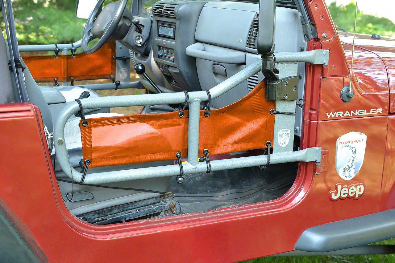 Steinjager Tube Door Covers - Orange (97-06 Jeep Wrangler TJ)