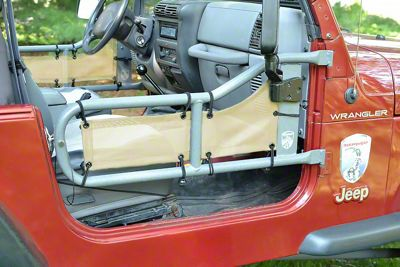 Steinjager Tube Door Covers - Tan (87-95 Jeep Wrangler YJ)