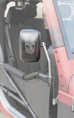 Steinjager Tube Door Mirror Kit - Cloud White (07-18 Jeep Wrangler JK)