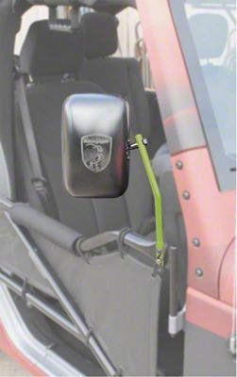 Steinjager Tube Door Mirror Kit - Gecko Green (07-18 Jeep Wrangler JK)