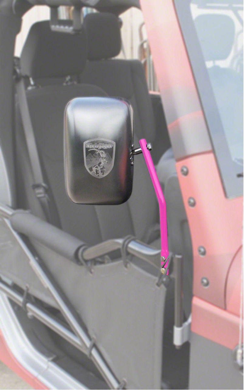 Steinjager Tube Door Mirror Kit - Hot Pink (07-18 Jeep Wrangler JK)