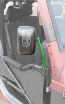 Steinjager Tube Door Mirror Kit - Neon Green (07-18 Jeep Wrangler JK)