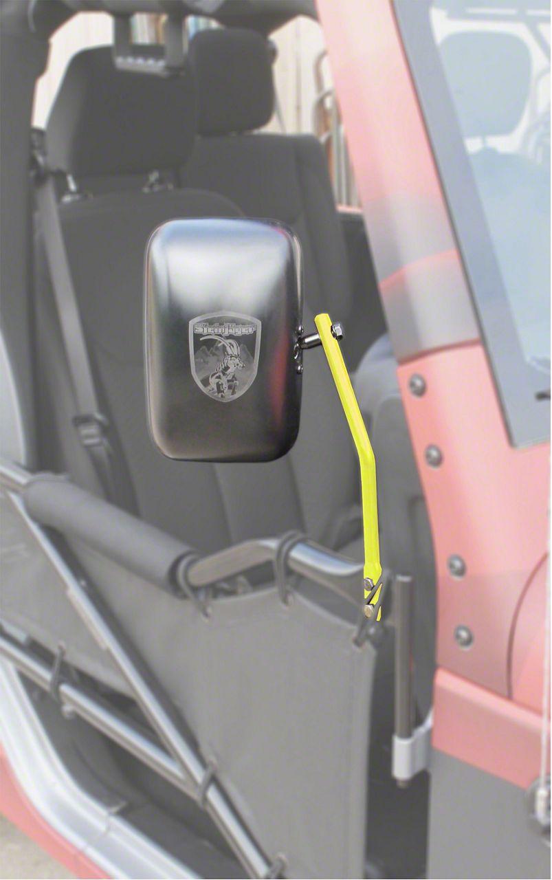 Steinjager Tube Door Mirror Kit - Neon Yellow (07-18 Jeep Wrangler JK)