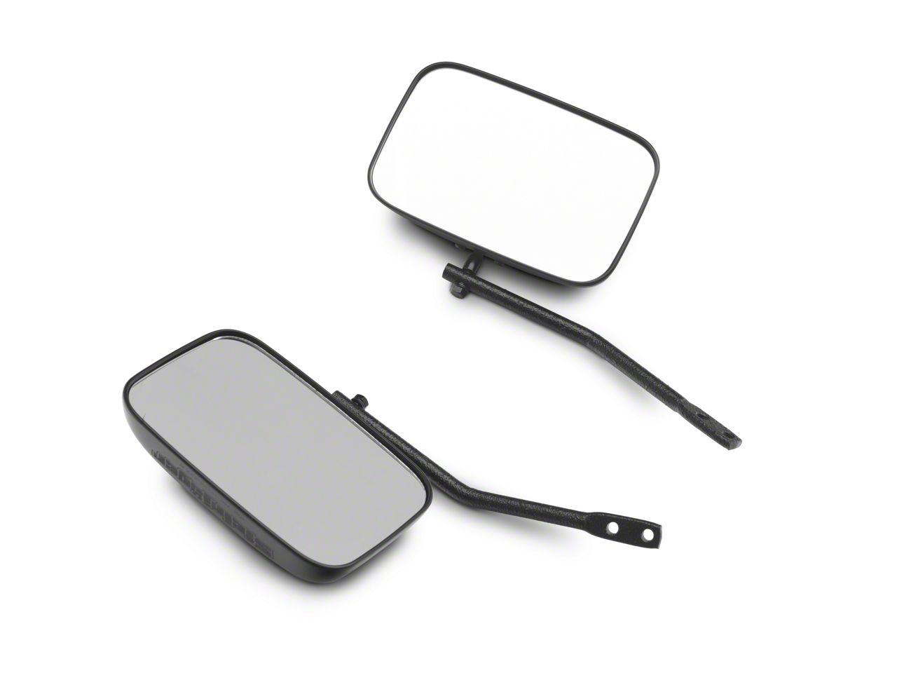 Steinjager Tube Door Mirror Kit - Textured Black (07-18 Jeep Wrangler JK)
