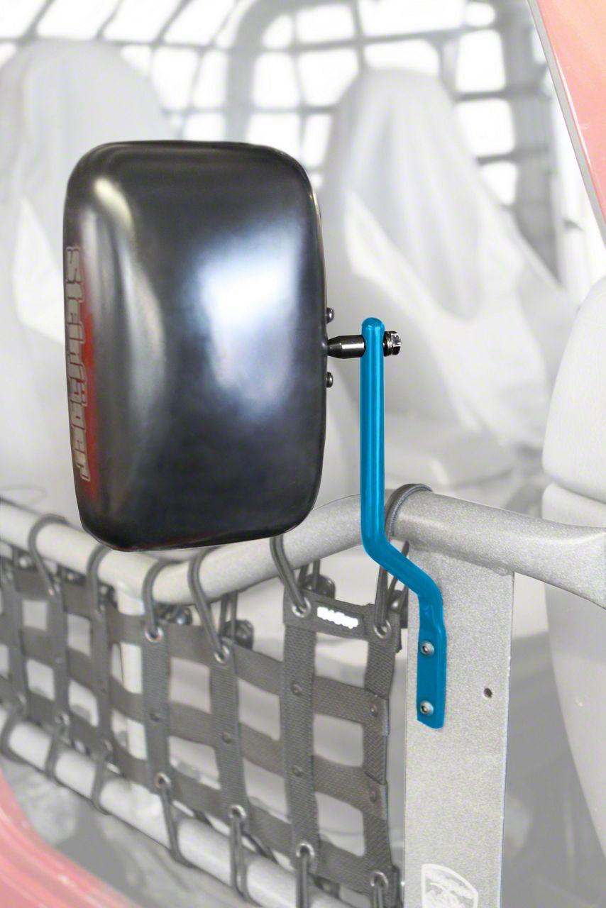 Steinjager Tube Door Mirrors - Playboy Blue (87-95 Jeep Wrangler YJ)
