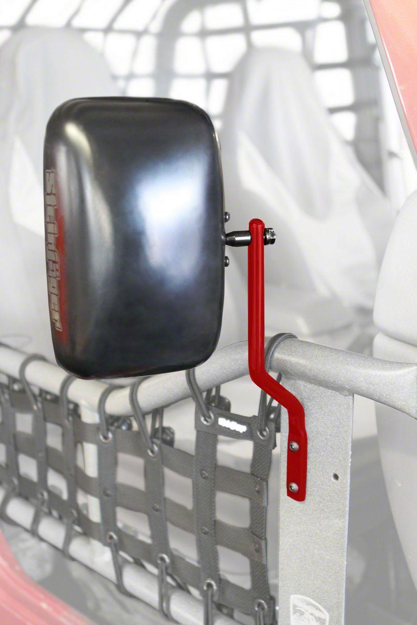 Steinjager Tube Door Mirrors - Red Baron (87-95 Jeep Wrangler YJ)
