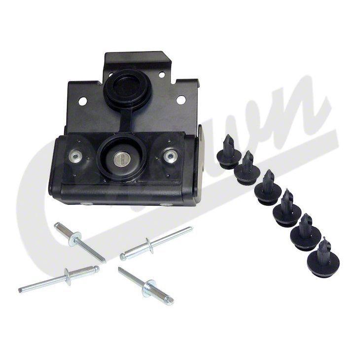 Crown Automotive Hood Lock Kit (07-18 Jeep Wrangler JK)