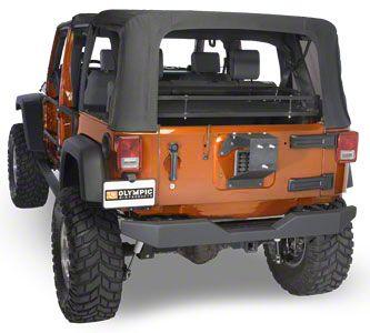 Olympic 4x4 Extended Heavy Duty Tire Mount - Textured Black (07-18 Jeep Wrangler JK)