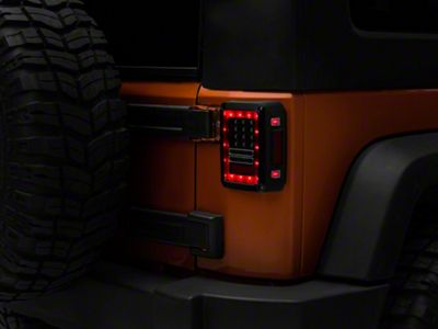 RT Off-Road LED Tail Lights - Clear Lens (07-18 Jeep Wrangler JK)