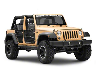 Rugged Ridge Front & Rear Tube Doors w/ Eclipse Cover Kit (07-18 Jeep Wrangler JK 4 Door)