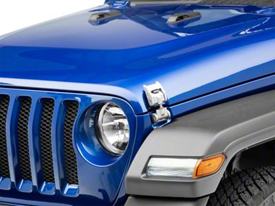 Rugged Ridge Aluminum Hood Catches - Silver (2018 Jeep Wrangler JL)