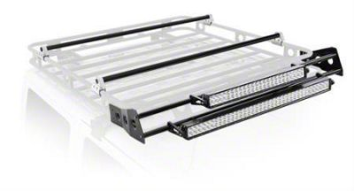 Smittybilt 5 ft. Defender Roof Rack LED Light Bar Mount Kit (87-19 Jeep Wrangler YJ, TJ, JK & JL)