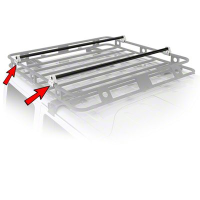 Smittybilt Defender Roof Rack Crossbar Bracket Kit (87-19 Jeep Wrangler YJ, TJ, JK & JL)