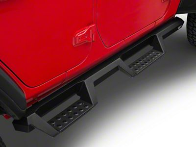 Westin HDX Drop Nerf Side Step Bars - Textured Black (18-19 Jeep Wrangler JL 4 Door)