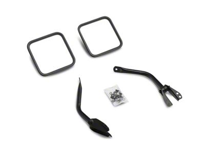 Smittybilt Factory Replacement Black Side Mirrors (87-95 Jeep Wrangler YJ)
