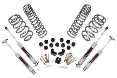 Rough Country 3.75 in. Lift Combo Kit w/ Premium N2.0 Shocks (97-06 4.0L Jeep Wrangler TJ)