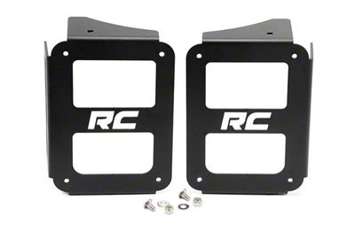 Rough Country Tail Light Covers - Open Design (07-18 Jeep Wrangler JK)