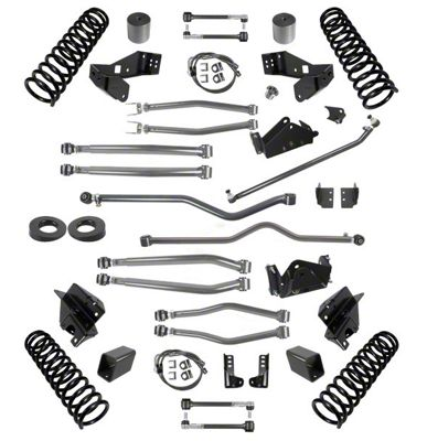 Synergy 4.5 in. Long Arm Suspension Lift Kit for Right Hand Drive - Stage 4 (07-18 Jeep Wrangler JK 4 Door)