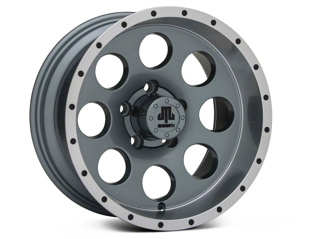 Mammoth 8 Beadlock Style Anthracite 15x8 Wheel & Mickey Thompson Deegan 38 31x10.50R15 Tire Kit (87-06 Jeep Wrangler YJ & TJ)