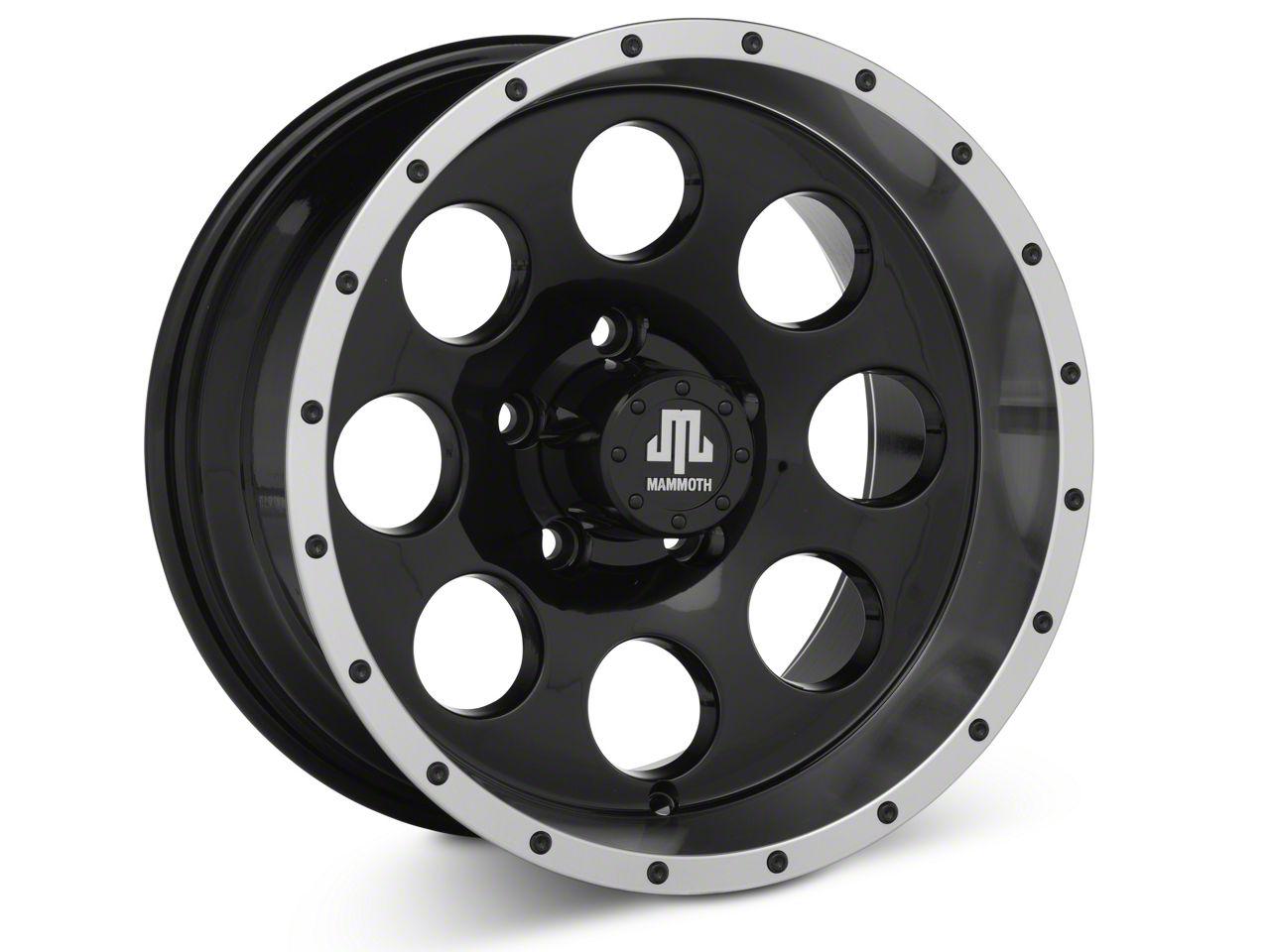 Mammoth 8 Beadlock Style Black 15x8 Wheel & Mickey Thompson Baja MTZP3 31x10.50R15 Tire Kit (87-06 Jeep Wrangler YJ & TJ)