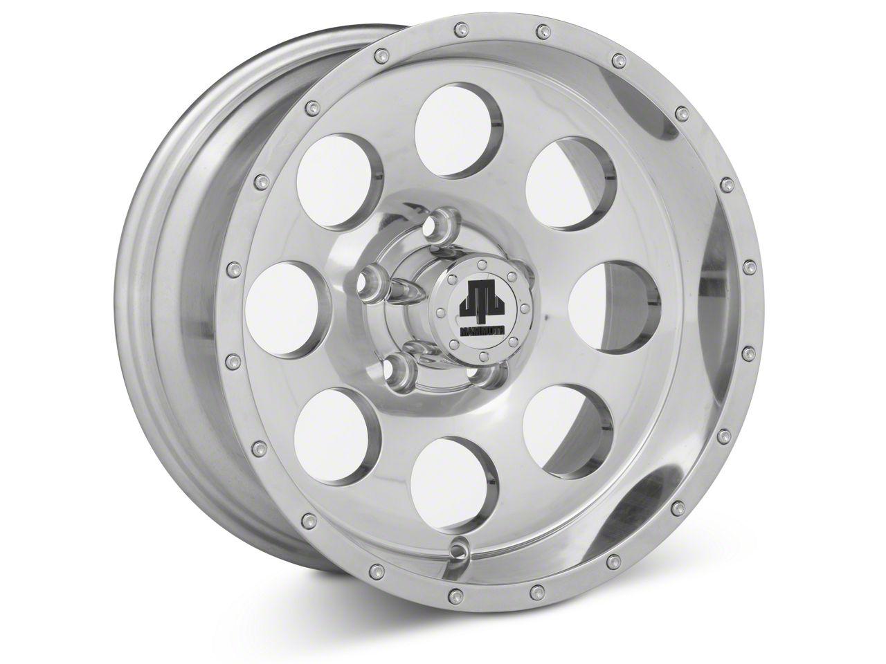 Mammoth 8 Beadlock Style Polished 15x8 Wheel & Mickey Thompson Deegan 38 31x10.50R15 Tire Kit (87-06 Jeep Wrangler YJ & TJ)