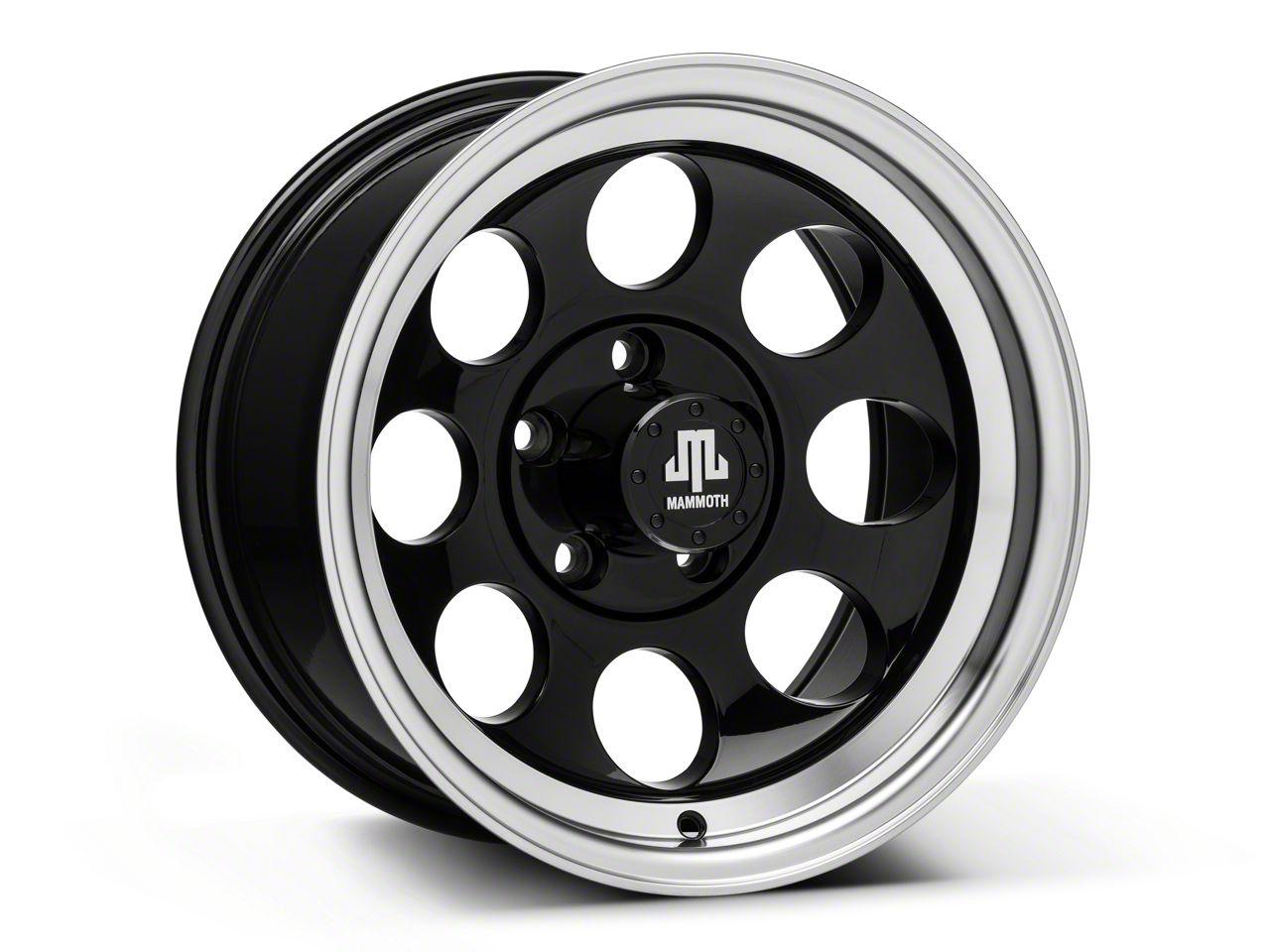 Mammoth 8 Black 15x8 Wheel & Mickey Thompson Deegan 38 31x10.50R15 Tire Kit (87-06 Jeep Wrangler YJ & TJ)