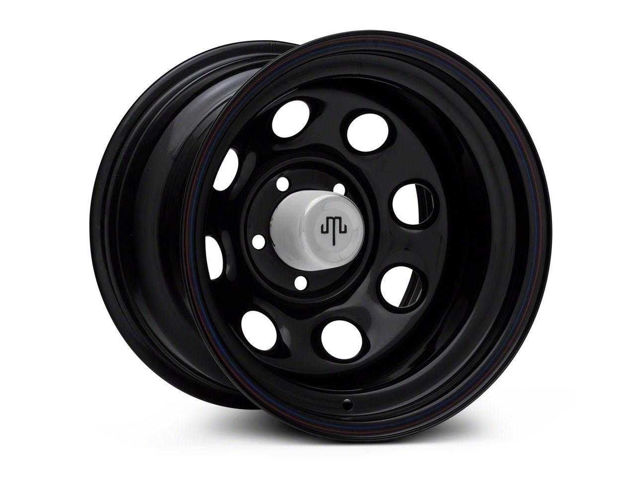 Mammoth 8 Black Wagon Wheel Edition Steel 15x10 Wheel & Mickey Thompson Baja MTZP3 31x10.50R15 Tire Kit (87-06 Jeep Wrangler YJ & TJ)