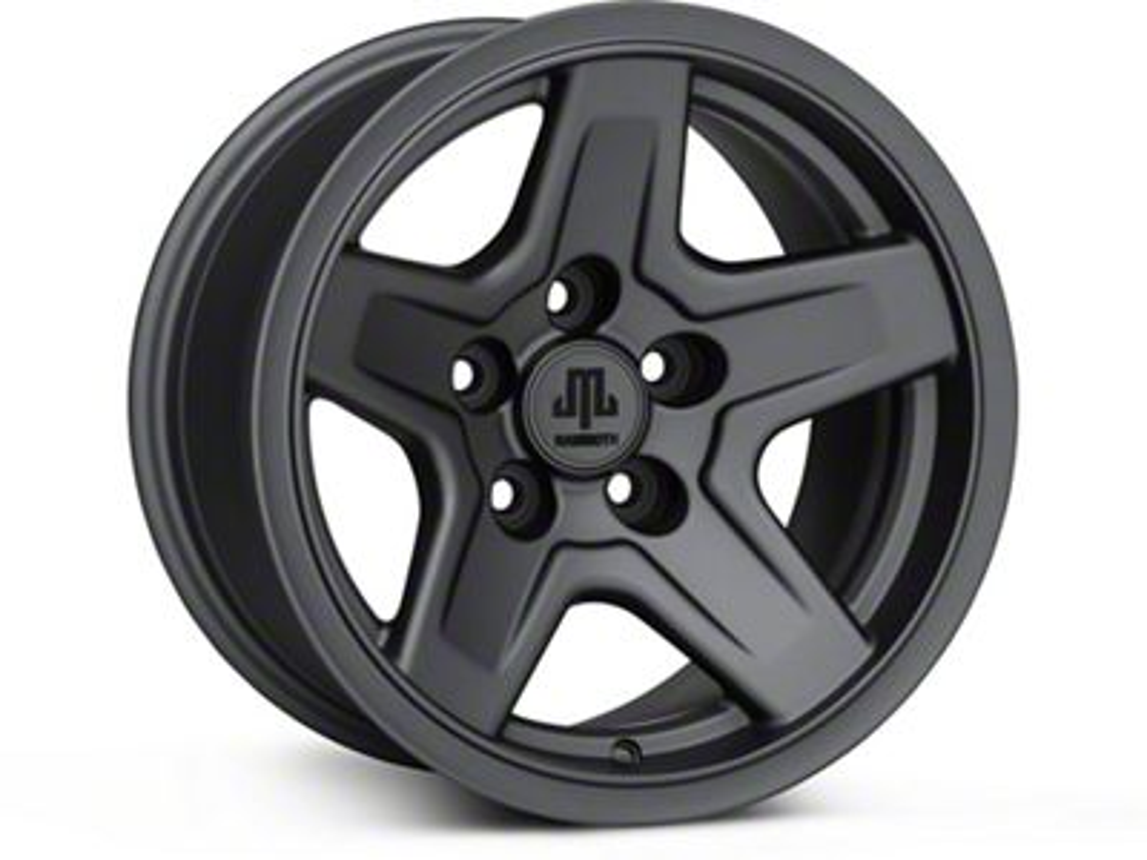 Mammoth Boulder Charcoal 15x8 Wheel & Mickey Thompson Deegan 38 31x10.50R15 Tire Kit (87-06 Jeep Wrangler YJ & TJ)