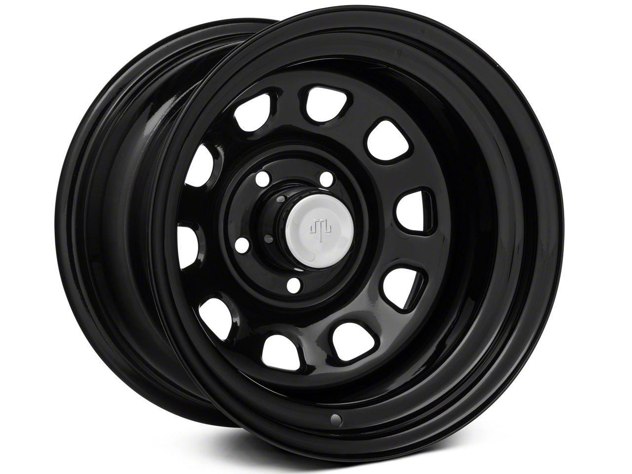 Mammoth D Window Black Steel Wheel 15x10 Wheel & Mickey Thompson Deegan 38 31x10.50R15 Tire Kit (87-06 Jeep Wrangler YJ & TJ)