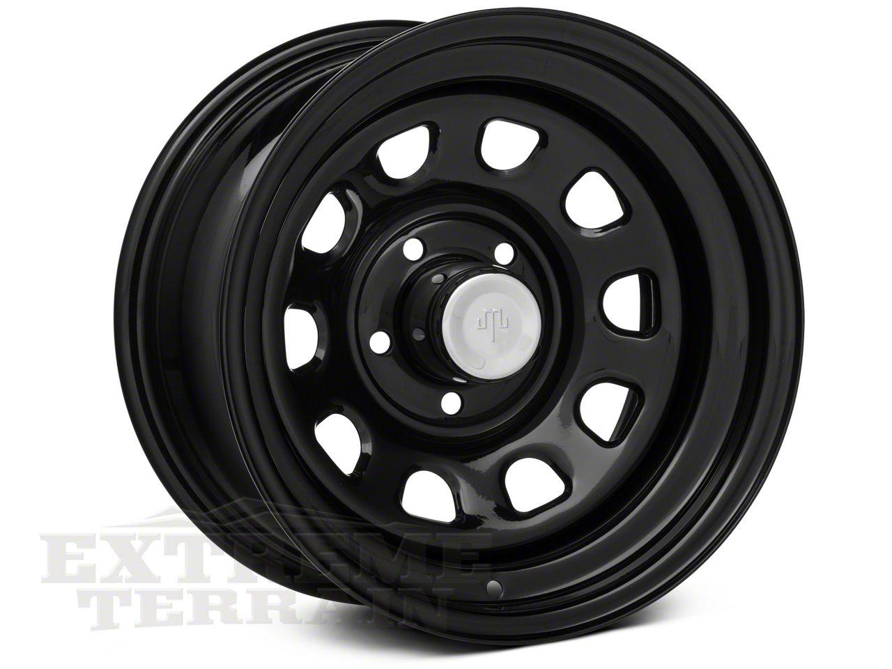 Mammoth D Window Black Steel Wheel 15x8 Wheel & Mickey Thompson Deegan 38 31x10.50R15 Tire Kit (87-06 Jeep Wrangler YJ & TJ)