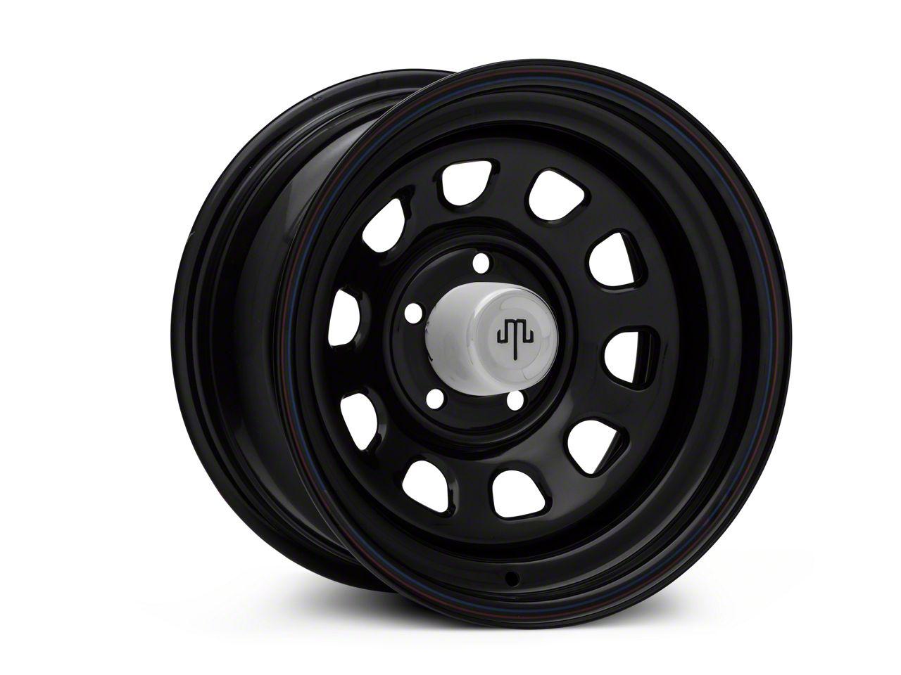 Mammoth D Window Black Wagon Wheel Edition Steel Wheel 15x8 Wheel & Mickey Thompson Baja MTZP3 31x10.50R15 Tire Kit (87-06 Jeep Wrangler YJ & TJ)