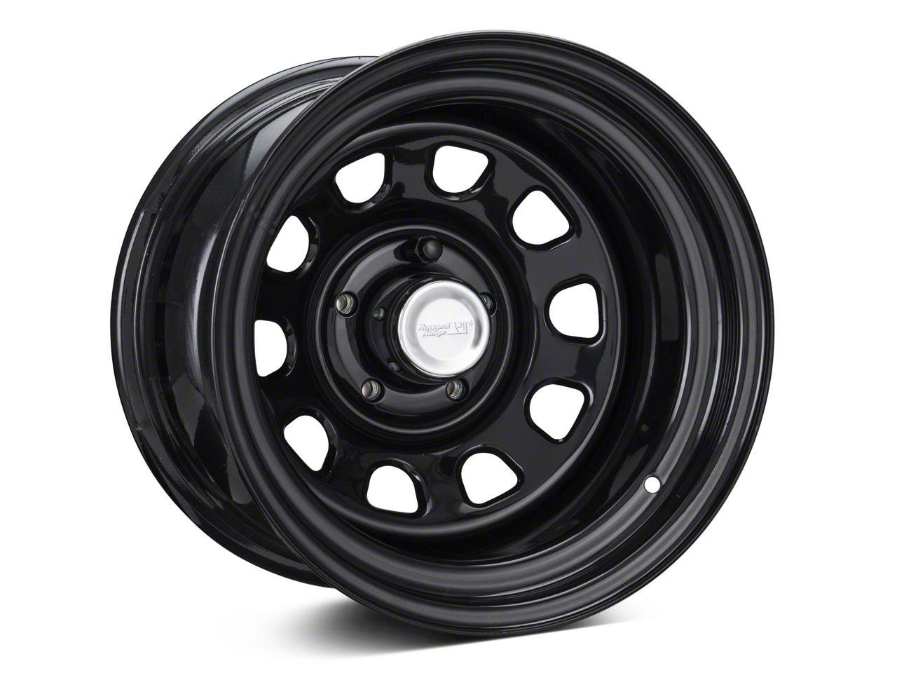 Rugged Ridge D-Window Black Steel Wheel 15x10 Wheel & Mickey Thompson Deegan 38 31x10.50R15 Tire Kit (87-06 Jeep Wrangler YJ & TJ)