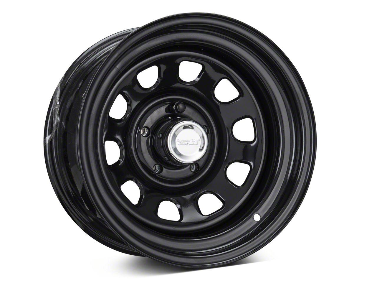 Rugged Ridge D-Window Black Steel Wheel 15x8 Wheel & Mickey Thompson Baja MTZP3 31x10.50R15 Tire Kit (87-06 Jeep Wrangler YJ & TJ)