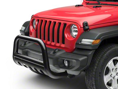 RedRock 4x4 3 in. Bull Bar w/ Skid Plate - Gloss Black (2018 Jeep Wrangler JL)