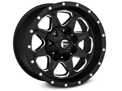 Fuel Wheels Boost Black Milled Wheel - 16x8 (07-18 Jeep Wrangler JK)