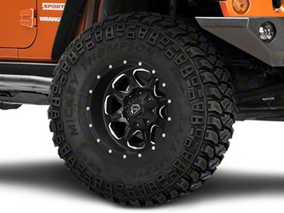Fuel Wheels Boost Black Milled Wheel - 17x9 (07-18 Jeep Wrangler JK)