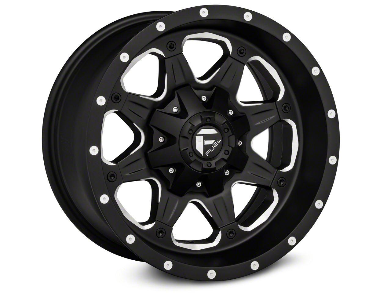 Fuel Wheels Boost Black Milled Wheel - 18x9 (18-19 Jeep Wrangler JL)