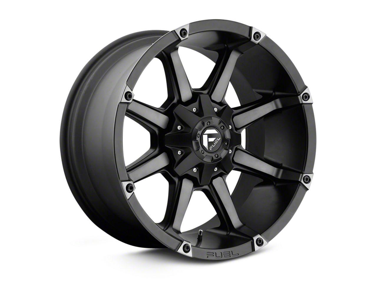 Fuel Wheels Coupler Black Machined Wheel - 20x10 (18-19 Jeep Wrangler JL)