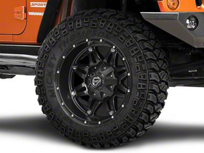 Fuel Wheels Hostage Matte Black Wheel - 22x9.5 (07-18 Jeep Wrangler JK)