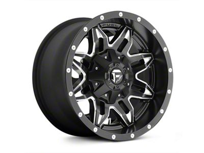 Fuel Wheels Lethal Black Milled Wheel - 20x12 (07-18 Jeep Wrangler JK)